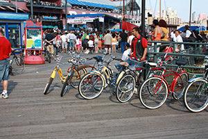 Das Fahrrad als Fortbeweungsmittel in den USA.