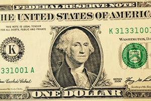 1- Dollar Geldnote US