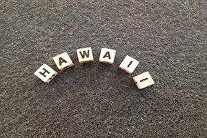 mit Buchstaben gelegter Name: Hawaii