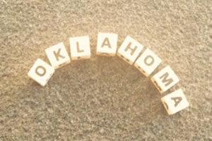 Name Oklahoma in Buchstaben gelegt