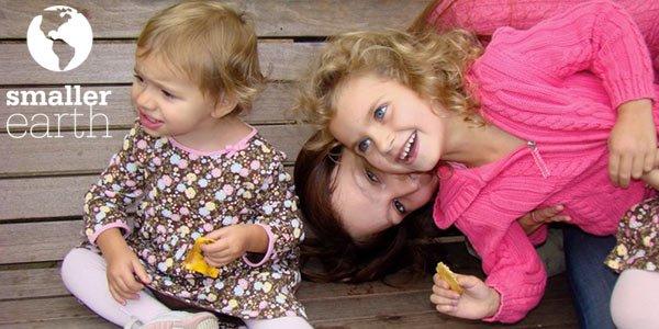Au Pair Mädchen mir zwei Kindern