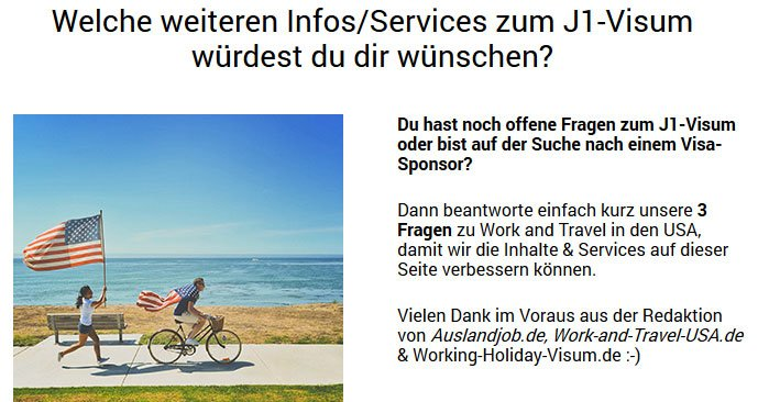 J1-Umfrage zu Work and Travel USA | Auslandsjob.de